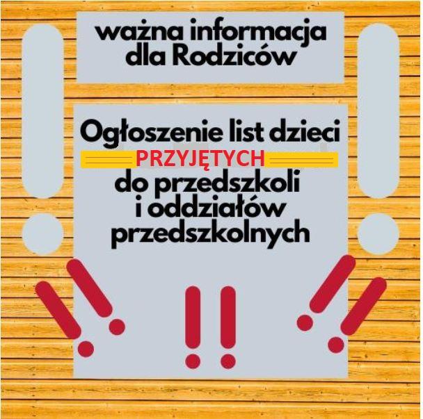 """""""Zerówka"""" Lista PRZYJĘTYCH"""